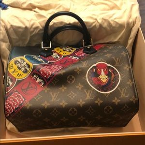 Louis Vuitton Kansai Yamamoto speedy 30 kabuki NIB